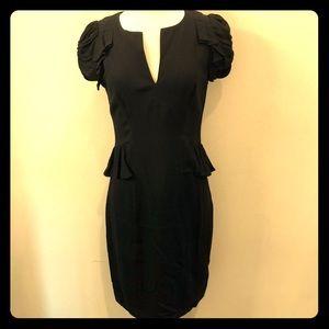 Rebecca Taylor black crepe sexy dress size 6